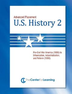 TeacherLingo.com $34.95 - 30 Lesson Plans/45 Handouts/224 Pages    Advanced Placement U.S. History, Book 2* is a college-level unit designed to be flexible enough to meet the needs of a variety of teaching goals while complementing textbook study and  focus on exam preparation.