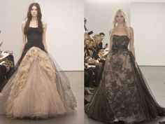 Vera Wang's fall wedding collection. She dumped white for weddings in favor of blacks, greys and nudes. I wore Vera Wang for my wedding--but I would have TOTALLY gone for this black instead