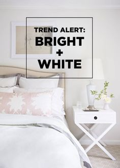 White home decor brings a fresh aspect to your life. A cute white side table can be the perfect finishing touch to your bedroom! Crest 3d White, White Side Tables, White Home Decor, White Houses, Decor Crafts, Your Space, Interior Decorating, Bright, Touch