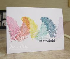 Birds of a Feather by naturecoastcrafter - Cards and Paper Crafts at Splitcoaststampers