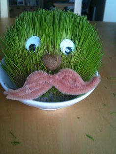 A co-worker of mine (thanks Em!), recently suggested that everyone in our office should have an effigy in the form of a chia pet. I wasted. Rock Crafts, Arts And Crafts, Chia Pet, Make Your Own, How To Make, Effigy, Sensory Bins, Crafts For Kids, Childhood