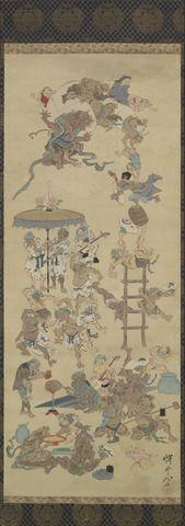遊び心の悪魔/ 河鍋暁斎、(1831 - 1889)