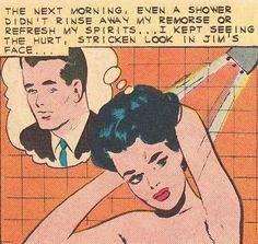 ...even a shower didn't rinse away my remorse..