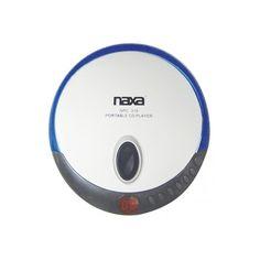 Naxa Slim Personal Compact Disc Player-Blue #NPC-319-BLUE