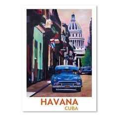 East Urban Home Cuban Oldtimer Street Scene in Havanna Cuba with Buena Vista Feeling Poster 2' by M Bleichner Graphic Art Size: