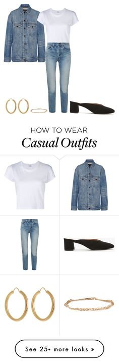 """""""Casual/cool denim"""" by baldwincaleigh on Polyvore featuring Alexander Wang, RE/DONE, Yves Saint Laurent, Theodora Warre and Catbird"""