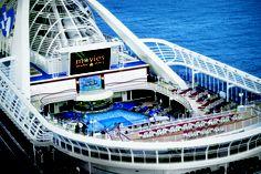 Movie screening at sea onboard Princess Cruises.