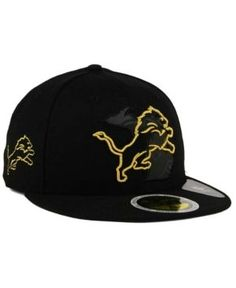 ec782a53 New Era Detroit Lions State Flective Metallic 59FIFTY Fitted Cap - Black 7  3/8