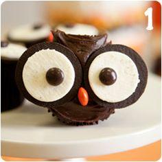 Owl Cupcakes @Cara K Gay