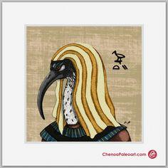 #Thoth #Egyptian #God #Spiritual #Illustration #Art #Fine Art #Mythology #Egypt #Ancient #Wisdom #Writing #Ibis #Bird This image is copyrighted by #Chenoa #Ellinghaus - Paleoart & #Illustration