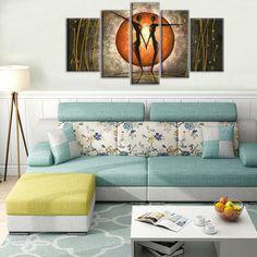 'Dance Under The Moon' -  5 Piece Canvas Art