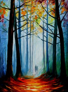 WISE FOREST  original oil on canvas painting by Leonidafremov.deviantart.com on @deviantART