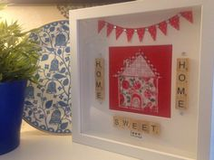 A personal favourite from my Etsy shop https://www.etsy.com/uk/listing/467476364/home-sweet-home-box-frame-new-home-gift