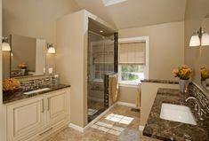 cabina ducha lamparas pulido marron