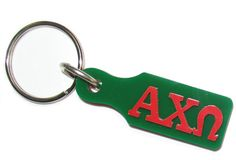 Alpha Chi Omega #paddle #keychain comes as shown. It is made up of plastic with a metal key ring. #Greek #Sorority #Accessories #AlphaChiOmega #AChiO #Paddle