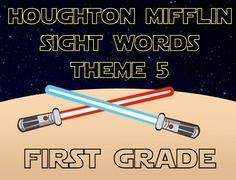 Get your students up moving and having fun with 23 SLIDES of sight words!  Have your students read their theme 5 sight words as they practice their Jedi training! Use this power point presentation as you see fit, but this is how we use it: Print the lightsaber in this packet on cardstock for students to color and decorate, I also