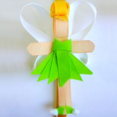 Disney Princess Inspired Ribbon Sculpture Patterns: Day 4- Tinkerbell; she has an entire series of 13 ribbon dolls with tutorials - love this one!