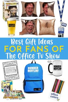 The Office is one of those shows you can watch on repeat. So get your Office fan the best gift! These Office Gift Ideas are perfect for you or your friends who love the TV Show The Office. Dwight, Jim, Pam, Michael and the rest of the gang are a perfect combination to make this show an easy binge-worthy option. You probably know at least one Office fanatic, so we've put together this gift guide to help you find the perfect Office TV Show gift. Huge Tv, The Office Show, Office Fan, Office Birthday, Tv Shows Funny, Best Boss, Best Gifts, Cool Gifts, The Office Tshirt