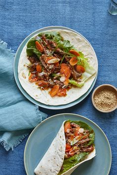 Korean Beef and Scallions with Quick Pickled Carrots