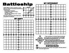 Battleship! Just when you thought it was safe.... Take advantage of the popular movie out in DVD and get your students to practice using coordinates just as the heros must in the movie. A whole new approach for the kids to use -instead of calling out B2 or D5, they need to use longitude and latitude.