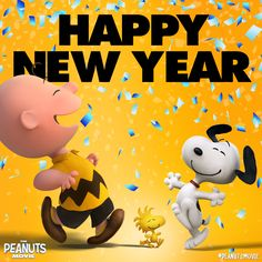 Happy new year snoopy Party time! Usher in the new year with Snoopy and the gang!