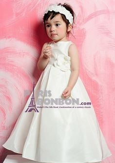 Princess Jewel Floor-length in Taffeta Flower Girl Dress