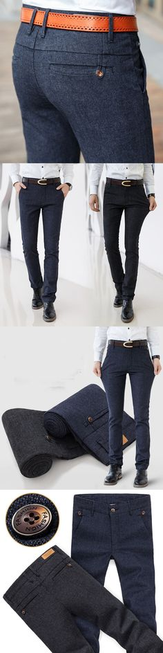 Solid Color Summer Autumn Fashion Business Casual Men Slim Straight Casual Long Pants Multicolor Brand Male Business Work Formal