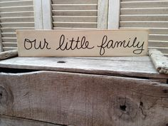 Ivory and Black Our Little Family Sign by SassySouthernCharm