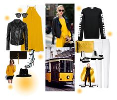 """""""Black and Yellow"""" by obsessedaboutstyle ❤ liked on Polyvore"""