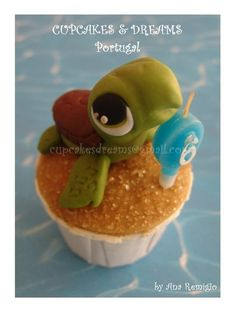 turtle cupcake  I LOVE THIS !!!!!!!