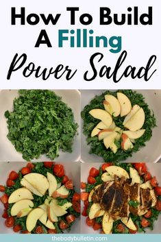 Have you ever wondered how to build a salad to make it taste great and fill you up? Create a healthy power salad recipe for easy weeknight dinners. Clean Eating Diet Plan, Healthy Eating Habits, Healthy Meal Prep, Clean Eating Recipes, Macro Nutrition, Diet And Nutrition, Easy Salad Recipes, Easy Healthy Recipes, Recipes Dinner