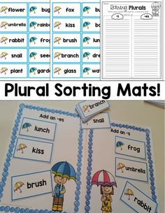 Sort words by plural ending! Fun and hands-on practice!