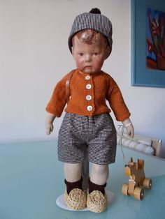 Outfit, 3 piece, Hat , Sweater and pants  f,.kathe kruse doll ,puppe1 ,17 inch.