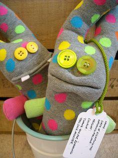 Sock monster twins by little jo 2006, via Flickr