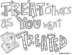 goldenrule - Idear from Christina: Print this on colored or patten cardbord/paper, and fame it, will look on a wall.