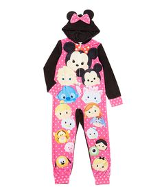 6553d2d839 Tsum Tsum Hooded Blanket Sleeper - Girls by