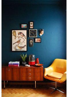 10x+blauw+en+hout+in+huis