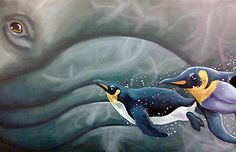 Whale of a Penguin by ~emberkudo on deviantART