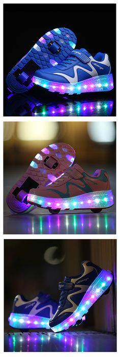 The coolest LED rolling baby sneakers! Fun is guaranteed. Find these kids' casual daily wear shoes in blue, pink colors at $37.99