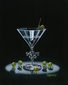"""Michael Godard """"Bottoms Up"""" 28"""" by 35"""" Limited AP Edition of 30"""