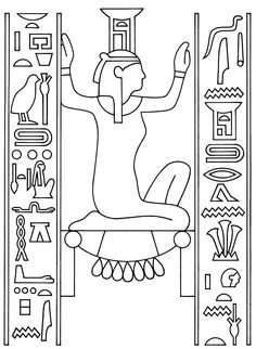 coloring page Egypt Kids-n-Fun