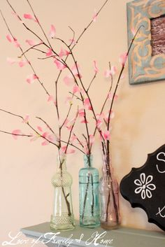 I told you in a previous post that I had been inspired by some other bloggers who have been making their own cherry blossom ...
