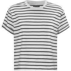 Rag & Bone Boy Nautical Striped Tee (1.260 NOK) ❤ liked on Polyvore featuring tops, t-shirts, shirts, tees, crop top, party shirts, crop shirt, cotton shirts and stripe t shirt