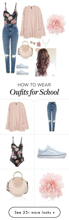 """Untitled 13"" by dont-be-like-the-rest-of-them on Polyvore featuring Vans, Chloé, Fleur du Mal, Topshop, Ann Demeulemeester, Luv Aj and Essie"