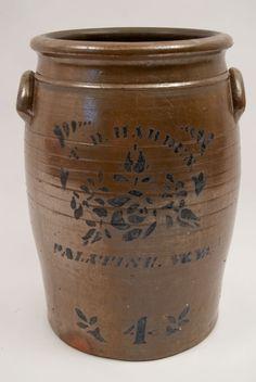 T. D. Harden Palatine WV 4 Gallon Storage Jar For Sale!