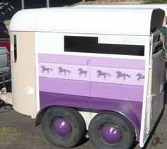 World's most colorful horse trailer. :)