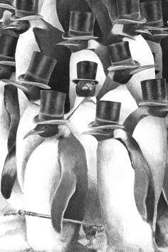 A Gathering of Gentlemen - Canvas Print by Eric Fan