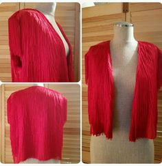 Bold Red Bonnie Boerer Fringe TASSEL Flapper Vest Size Medium in Clothing, Shoes & Accessories, Women's Clothing, Vests | eBay