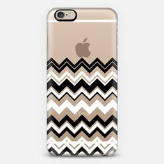 Black and White Chevron Transparent iPhone 6 Case by Organic Saturation | Casetify Get $10 off using code: 53ZPEA
