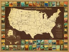 America's National Parks Map Poster : : Anderson Design Group Studio Store : :